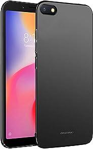Amazon Brand - Solimo Redmi 6A Mobile Cover (Hard Back & Slim), Black