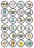 Pokémon Go # 2Catcher Comestible Premium Épaisseur sucré, Vanille, décorations en Papier de...