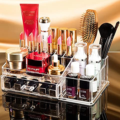 Choice Fun Makeup Organiser Cosmetic Display Case with Drawer