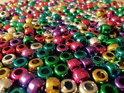 Machen Sie Ihre Eigenen Kostüm Schmuck - Art Trinkhalme ct2352Metallic Pony Beads Perlen