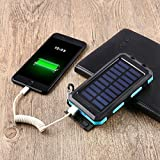 Dailyinshop 300000mAh Dual USB Wasserdichte Solar Power Bank Externes Ladegerät