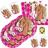 Horses Pferde Partyset 52 Teile für 16 Kinder Teller Becher Servietten