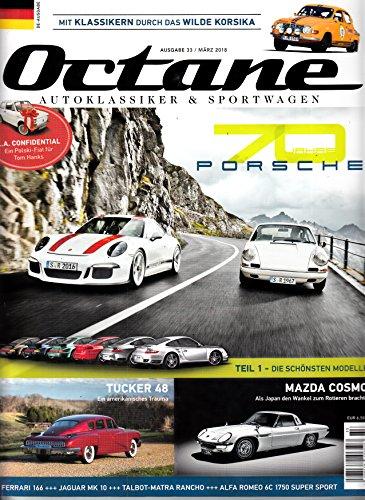 Octane #33 2018 Porsche 70 Jahre Tucker 48 RSR Zeitschrift Magazin Einzelheft Heft
