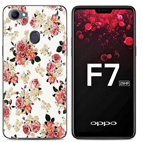 Yrlehoo Oppo F7, Premium softe Silikon Schutzhülle für Oppo F7 Tasche Case Cover Hülle Etui Schutz Protect, Blumen (Gilt nur für Oppo F7)