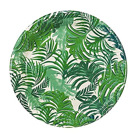 Talking Tables FST3-PLATE Fiesta Tropicale 9 Round Paper Inch Plaque