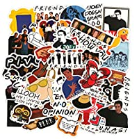50Pcs Friends Laptop Stickers, Cool TV Water Bottle Vinyl Decal, Teen Stickers for Skateboard Travel Case Computer Phone Notebook Guitar Luggage