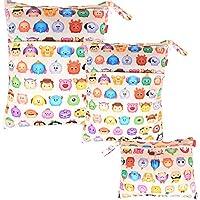 Damero Bolsa de pañales Bolso de Cambiador de Bebé Organizador para Accesorios de Bebé (3 piezas)