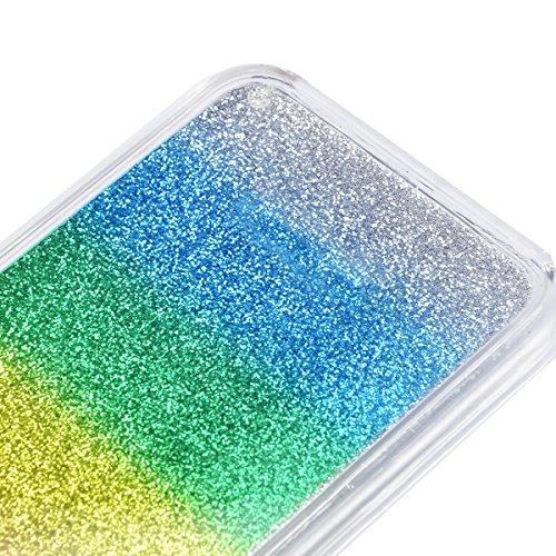 Coque pour iPhone 7 Plus, Vandot Luxe Bling Glitter Strass Diamant Miroir Housse Étui pour iPhone 7 Plus Pare-Chocs Complète Absorption Cas de Protection avec 360 Degrés de Rotation Ring Stand Holder  Arc en ciel-01
