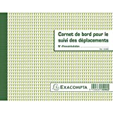 Carnet de suivi des déplacements de la marque EXACOMPTA. Caractéristiques : - Nombre de feuillets : 60