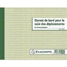 Exacompta 5090E Carnet de Suivi des déplacements pour Transporteurs 60 pages