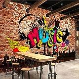 Leegt 3D Tapete Wallpaper Mural Custom 3D Wandbilder Tapeten Stadt Musik Kunst Graffiti Mauer Große Wandbild Wandbild Tapeten Home Decor Wohnzimmer 300cmX250cm