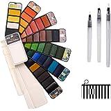ZITFRI Set Acuarelas Profesionales 42 Colores Caja Acuarelas Portatiles( con Pincel de Acuarela, Paleta, etc) Juego de Pintur