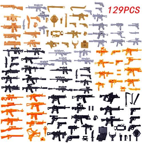 FutureShapers 129St. Set di Armi Personalizzate per Soldati di Polizia. Mini Figure del Team SWAT, abbinalo al Lego