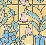 gekkofix Fensterfolie bunt Design Nizza Blickschutzfolie Glasdekorfolie Bleiglas Look Selbstklebend Adhesive 0,45m x 2,00 m