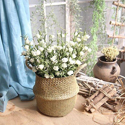 MDenker Kunstblumen & Pflanzen,künstliche Hortensie Seide Blume Blumenstrauß Hochzeit Dekor Unechte Blumen Flanell Blume Bridal Bouquet Hochzeit Party Home Decor Blume