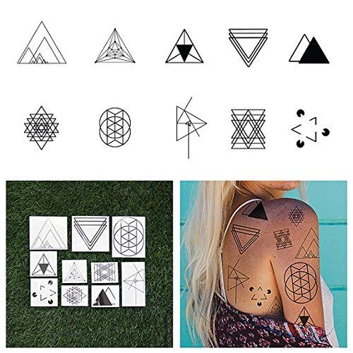 Tattify Tatouages Temporaires Triangle Forme - Je Voudrais Que Tu Change D'Angle (Set de 20)
