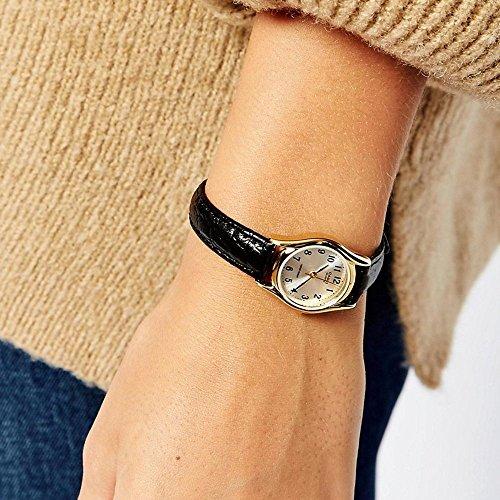 Casio Damen Analog Quarz mit Leder Armbanduhr LTP 1154PQ 7B - 2
