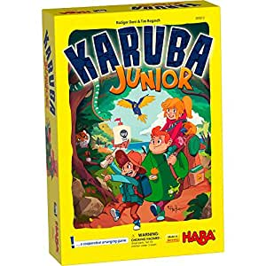 HABA Karuba Junior - A Cooperative Arranging Game for Ages 4-8 (Made in Germany)