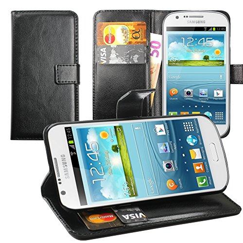 Original Lanboo® Wallet / Buch Tasche mit Magnetverschluss für Samsung Galaxy Express - i8730- Schwarz - Mlc Tasche