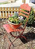 DanDiBo Stuhl Passion 18621 Gartenstuhl aus Metall Rot Blumenbank Blumenhocker