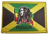 Bob Marley auf Jamaika Fahne Aufbügler Aufnäher Patch - FRIP –Versand®