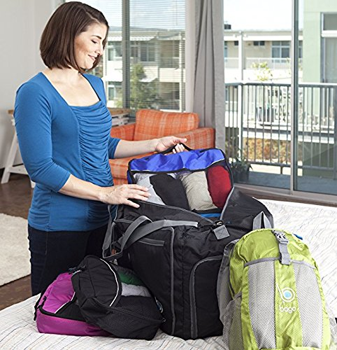 Packing Cubes 4pcs Value Set for Travel – Plus 6pcs Luggage Organiser Zip Bags (Black)