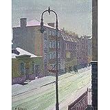 """Londres escena de la calle en la nieve, Harold Gilman, Papel artístico satinado de 255 g/m², Image size: 440mm x 342mm (17.25"""" x 13.5"""")"""