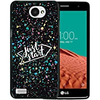 WoowCase Funda LG X150 Bello 2, [LG X150 Bello 2 ] Funda Silicona Gel Flexible Just Start, Carcasa Case TPU Silicona - Negro