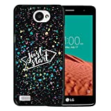 WoowCase Funda LG X150 Bello 2, [LG X150 Bello 2 ] Funda Silicona Gel Flexible Just Start, Carcasa Case TPU Silicona - Negro