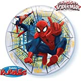 """22"""" Ultimate Spiderman Bubble Balloon Plastic (1 per package) by Qualatex"""