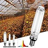 400W 600W 1000W HPS Lampe de Plante E40 25Ra à haute pression, lampe au sodium à haute efficacité énergétique, Ampoules de plantes légères ampoule de croissance pour plantes d'intérieur Veg,1000w