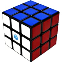 Maomaoyu GAN Speed 3x3 Cube, Tiled Scratch Proof 3x3x3 Smooth Magic Puzzle Cube Toy Noir (GSC)