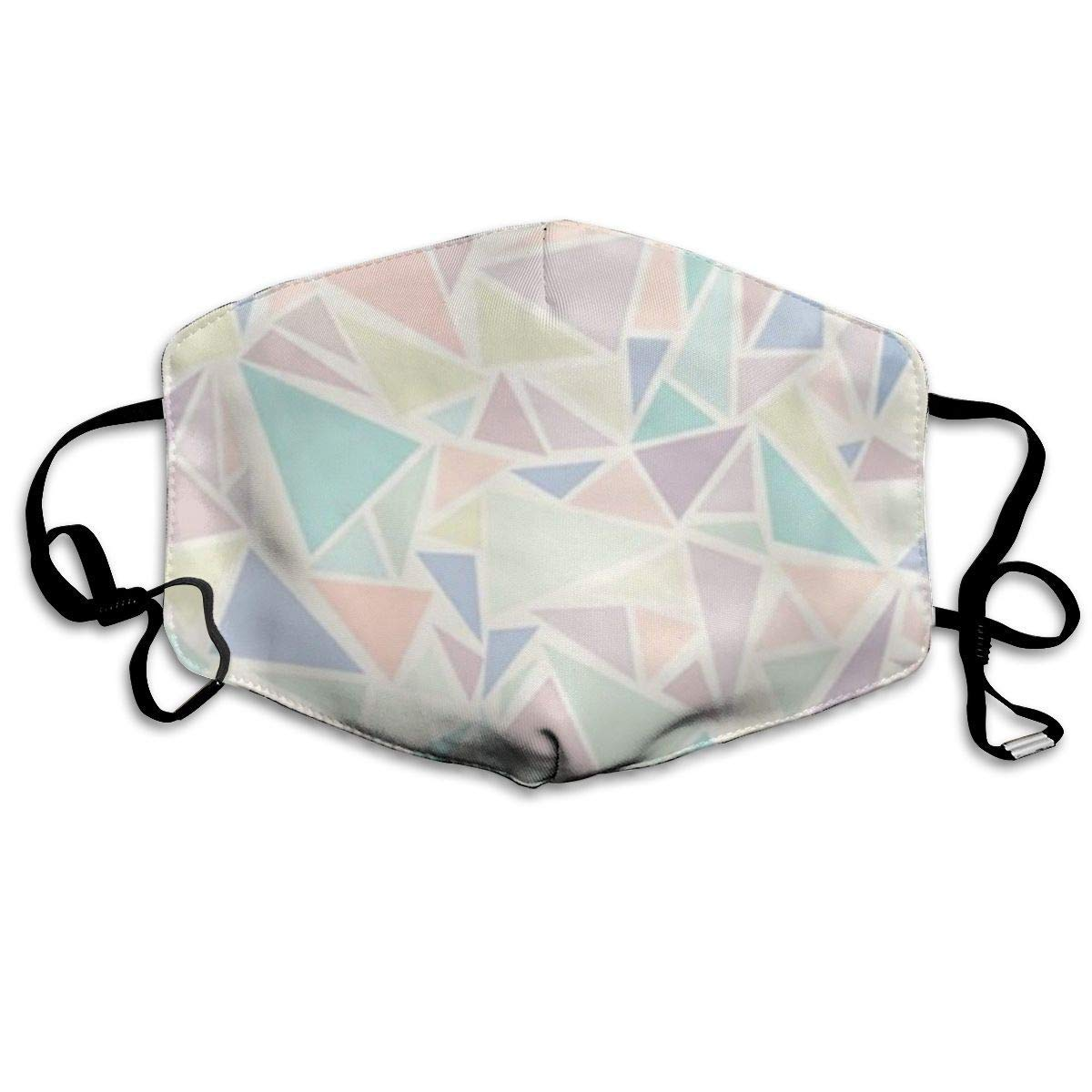 Bdwuhs Mascarillas Bucales,Boca Máscara Dust Mask for Women and Men Pink Triangle Printed Foldable Mask Face Mask Anti-Dust Mouth Mask