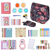Andoer 14 in 1 Accessories Kit for Fujifilm Instax Mini 9/8/8+/8s +Camera Case/Strap/Sticker/Selfie Lens/5*Colored Filter/Album/3 Kinds Film Table Frame/10*Wall Hanging Frame/40*Border Sticker