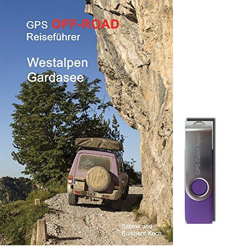 Preisvergleich Produktbild GPS-Offroad-Reiseführer Westalpen / Gardasee 30 Routen incl. USB-Stick mit Tracks fürs Navi