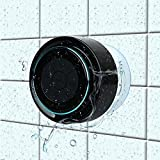 Bluetooth Shower Speakers,Haissky Waterproof Portable Shower Speaker with Suction Cup Built in Mic Perfect Speaker for iPhone ,Bathrooms ,Bedrooms,Pool,Beach,Home