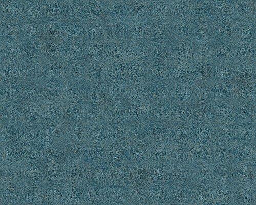 A.S. Création Vliestapete Bohemian Burlesque Tapete Uni 10,05 m x 0,53 m blau Made in Germany 960793 96079-3