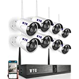 Wireless Video Security CCTV Surveillance System, 8CH WIFI NVR Kits + 8PCS 1.3MP Outdoor Waterproof IP66 IR Night Vision Outd