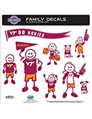 NCAA Virginia Tech Hokies Family Character Decals, Large