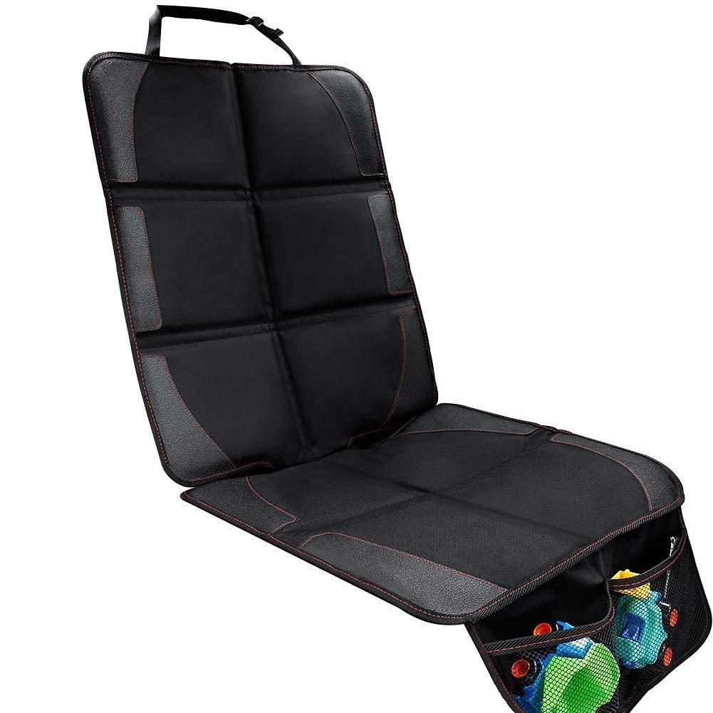 Protector de asiento de coche – Premium cubierta Isofix por asiento delantero y trasero con bolsillo y tamaño universal – Funda impermeable protegida de bebé coche contra daños/polvos/líquidos/pelos