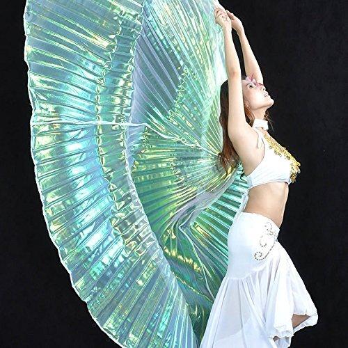 Calcifer® Marke neue Ägyptische Ägypten Belly Dance Flügel Isis Flügel Kostüm Geschenk für Big Party Weihnachten, Silver (Wings Kostüme Blue)
