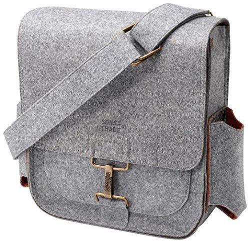 Preisvergleich Produktbild Sons of Trade JOCHFT-604 00 Männerschultertasche mit Wickelstation Journey Pack, grau