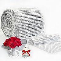 10yard 900cm Cake rollo de tul de malla con Trim Bling Diamond Crystal lazos fiesta decoración de la boda evento Party Supplies plata