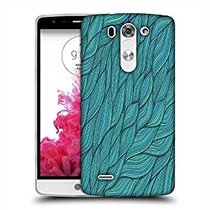 Snoogg seamless waves texture Designer Protective Back Case Cover For LG G3 BEAT