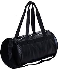 Dee Mannequin 2513 Trendy Leather Duffle Bag (Black)