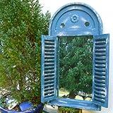 Antikas - Spiegelfenster in Tollem Griechisch Blau -Wandspiegel im Bad Fenster als Spiegel