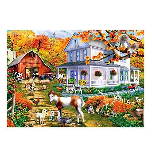 D DOLITY 5d Diamant Malerei Stickerei Kreuzstich Kit Viele Muster zum Auswahlen - Bauernhof, 40 x 30 cm -