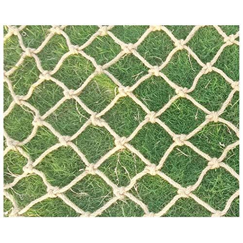 Sicherheitsnetz, Fensterschutznetz, Gitter Netz für Kletterpflanzen,Netz Zaun Drinnen Draußen,Jute Material,für Terrasse Im Freien Garten,8mm/8cm,Mehrere Größen (Size : 2x2m)