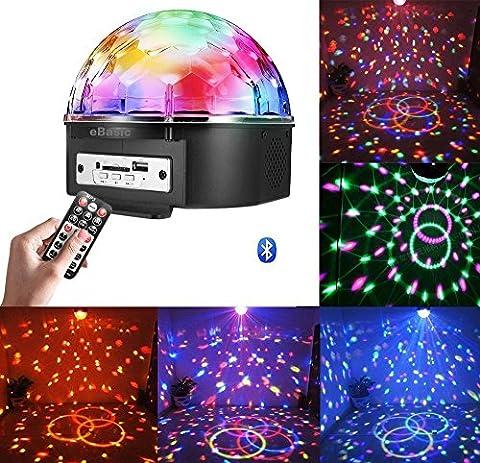 Mini Bluetooth Voice activado RGB LED Cristal Magic Ball Efecto Luz Disco Stage Lighting Lámpara de bola de cristal de Bluetooth con control remoto + Bluetooth Control (Bluetooth)