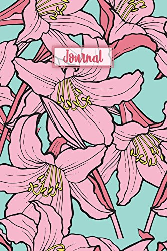 Journal: Lilies Pattern Blank Paper Notebook Sketchbook Diary | Pocket (6 x 9)